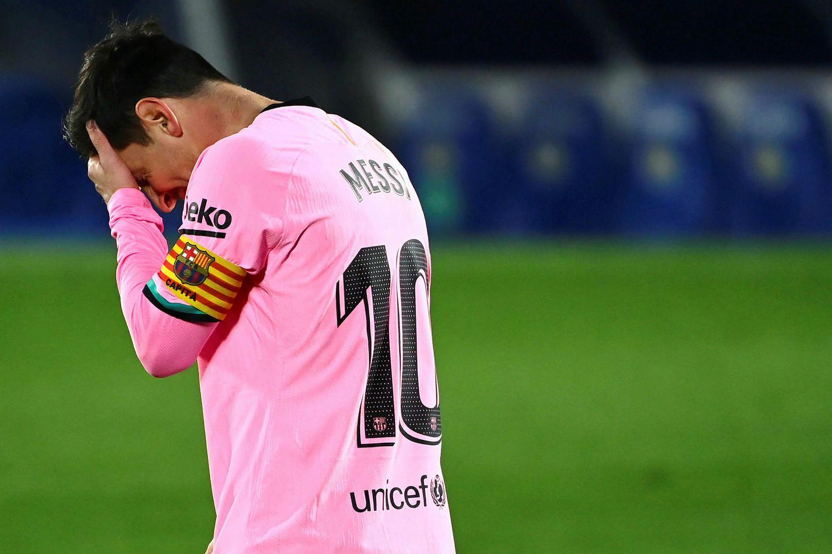 Lionel Messi og félagar máttu þola tap.