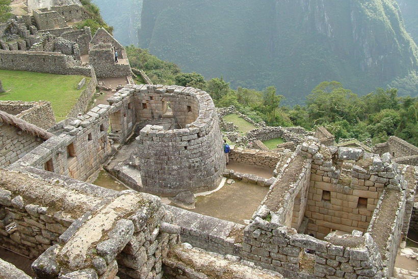 Musteri sólarinnar (e. Temple of the Sun) er í Machu …