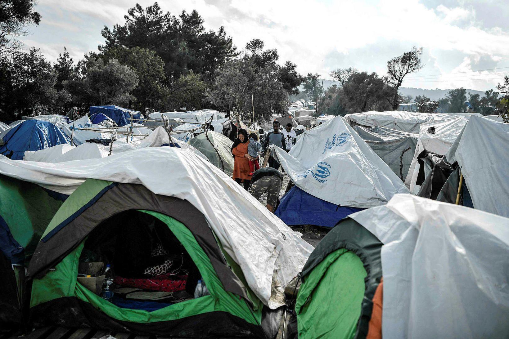 Frá Vial flóttamannabúðunum á grísku eyjunni Chios.
