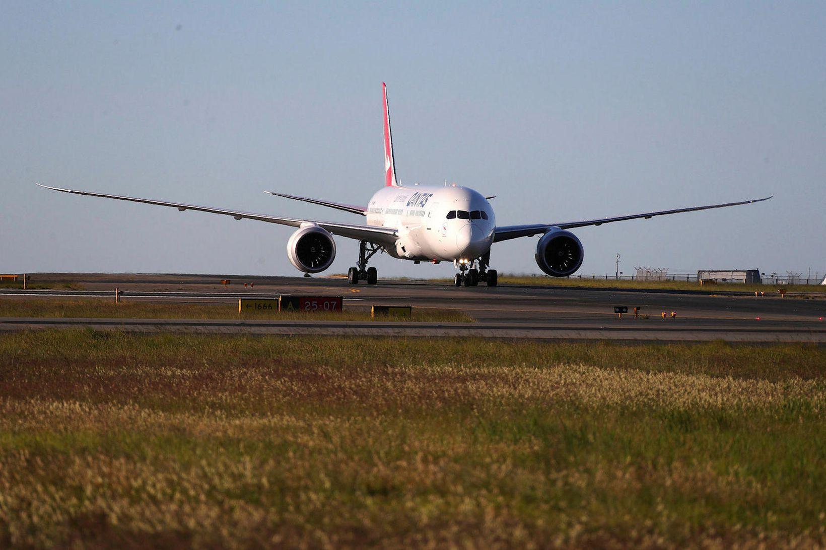 787 Dreamliner-vél í eigu ástralska Quantas-flugfélagsins.