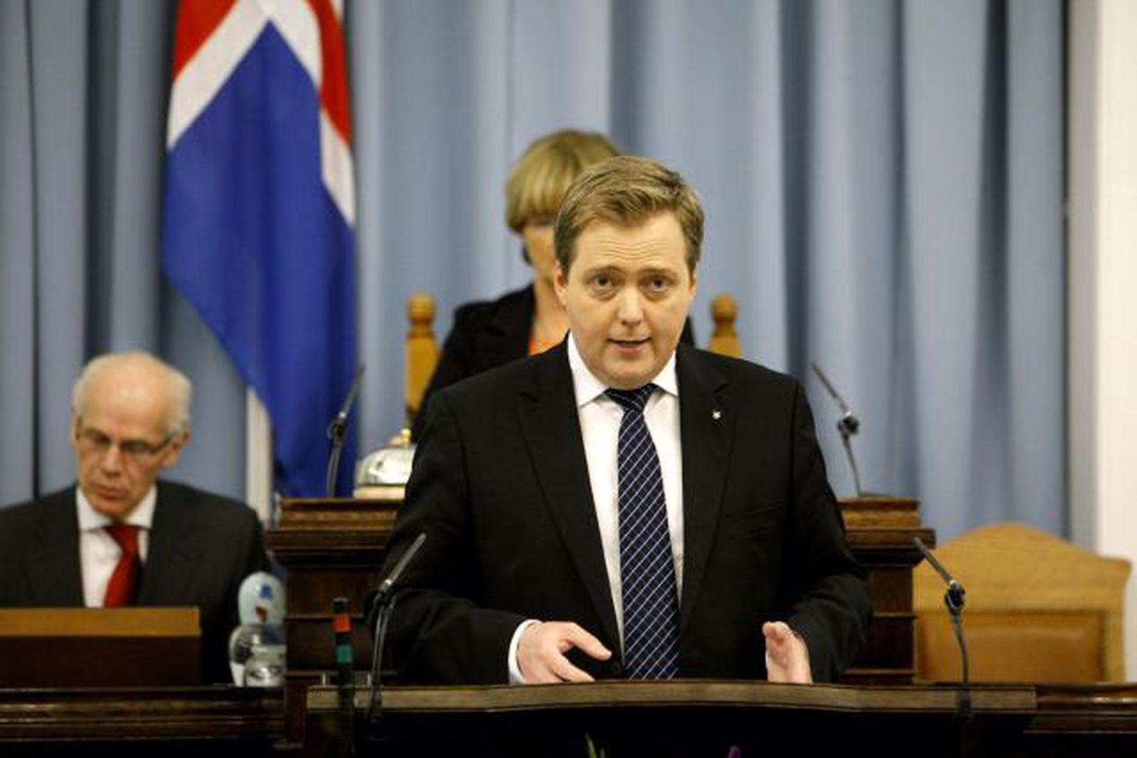 Sigmundur Davíð Gunnlaugsson á Alþingi