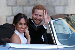 Hertogahjónin Harry og Meghan áttu eftirminnilegan brúðkaupsdag.