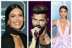 Stjörnurnar Mandy Moore, Ricky Martin og Sarah Hyland fundu ástina í gegnum netið.