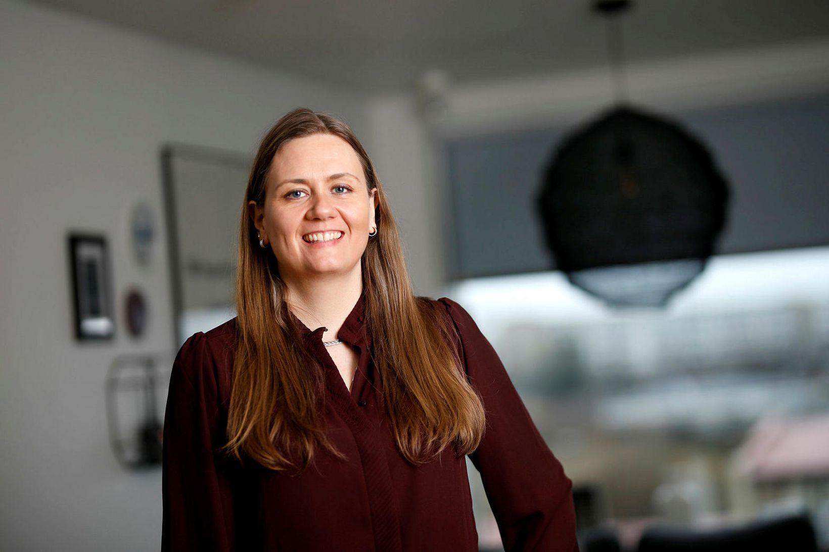 Elín Ólafsdóttir gerði upp heimili sitt sjálf.
