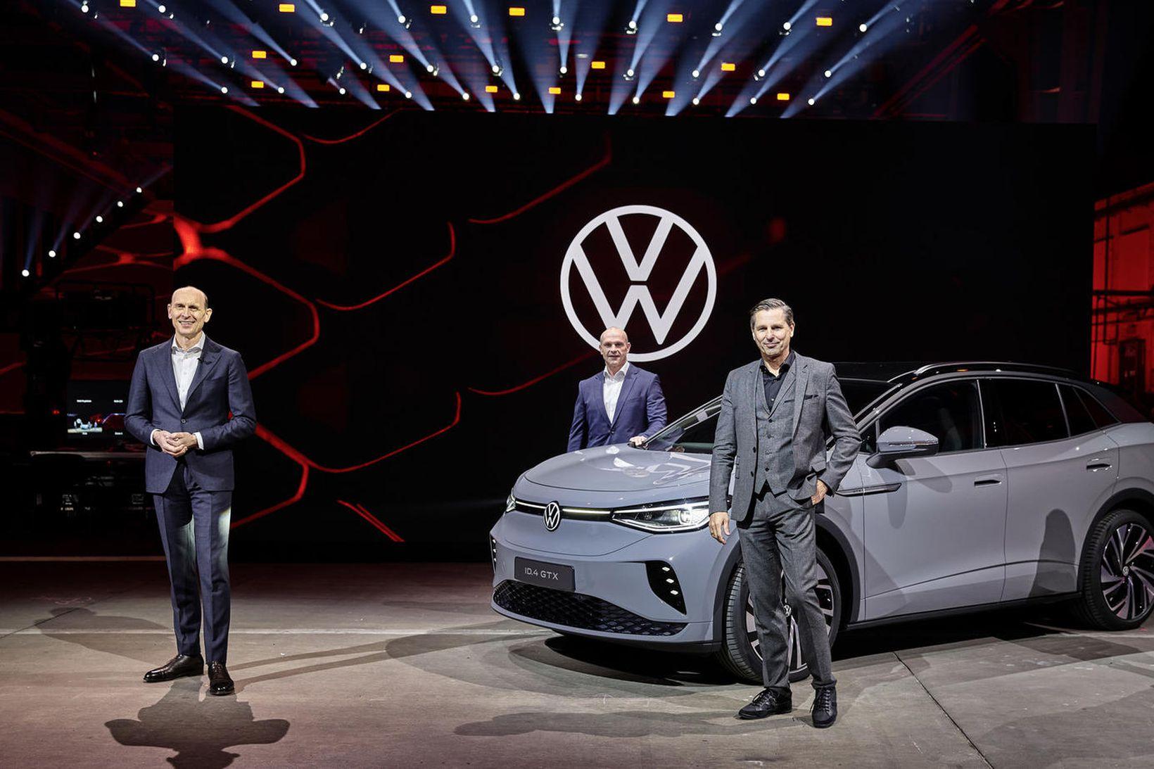 Forsvarsmenn Volkswagen frumsýna ID.4 GTX á netinu.