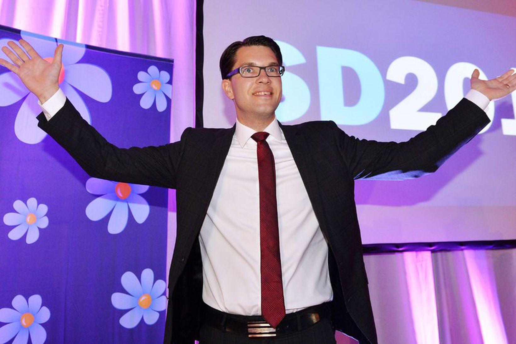 Jimmie Åkesson, formaður Svíþjóðardemókrata.