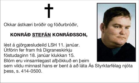 Konráð <U>Stefán</U> Konráðsson,