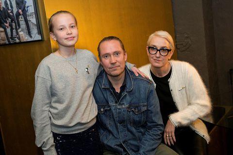 Kaja, Gunnar Sverrisson og Halla Bára Gestsdóttir.