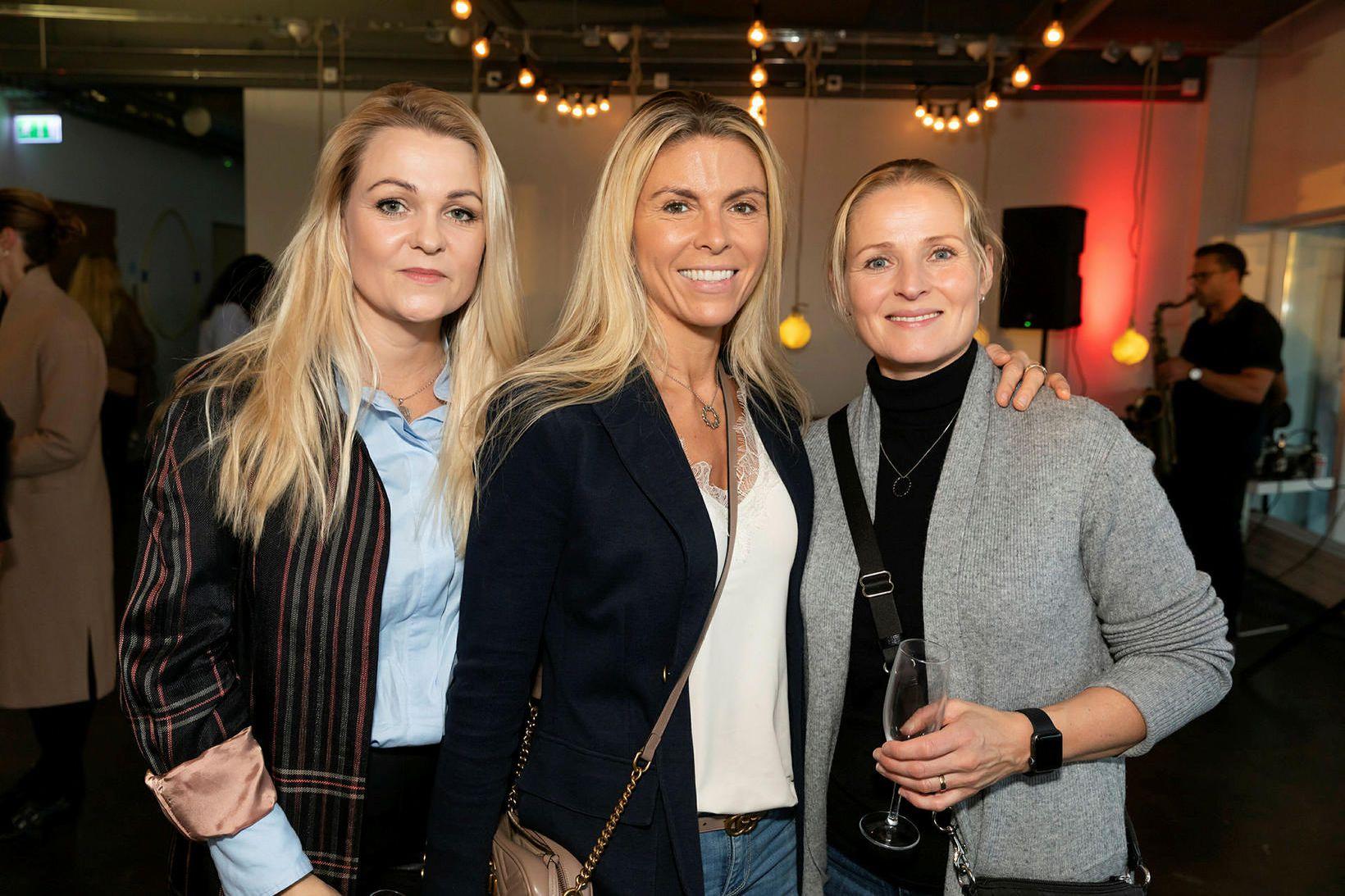 Bryndís Alfreðsdóttir, Anna Eiríksdóttir og Kristín Einarsdóttir.