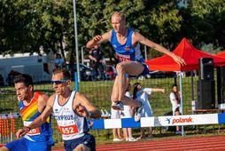 Hlynur Andrésson vann 5.000 metrana með yfirburðum.