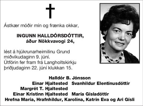 Ingunn Halldórsdóttir,