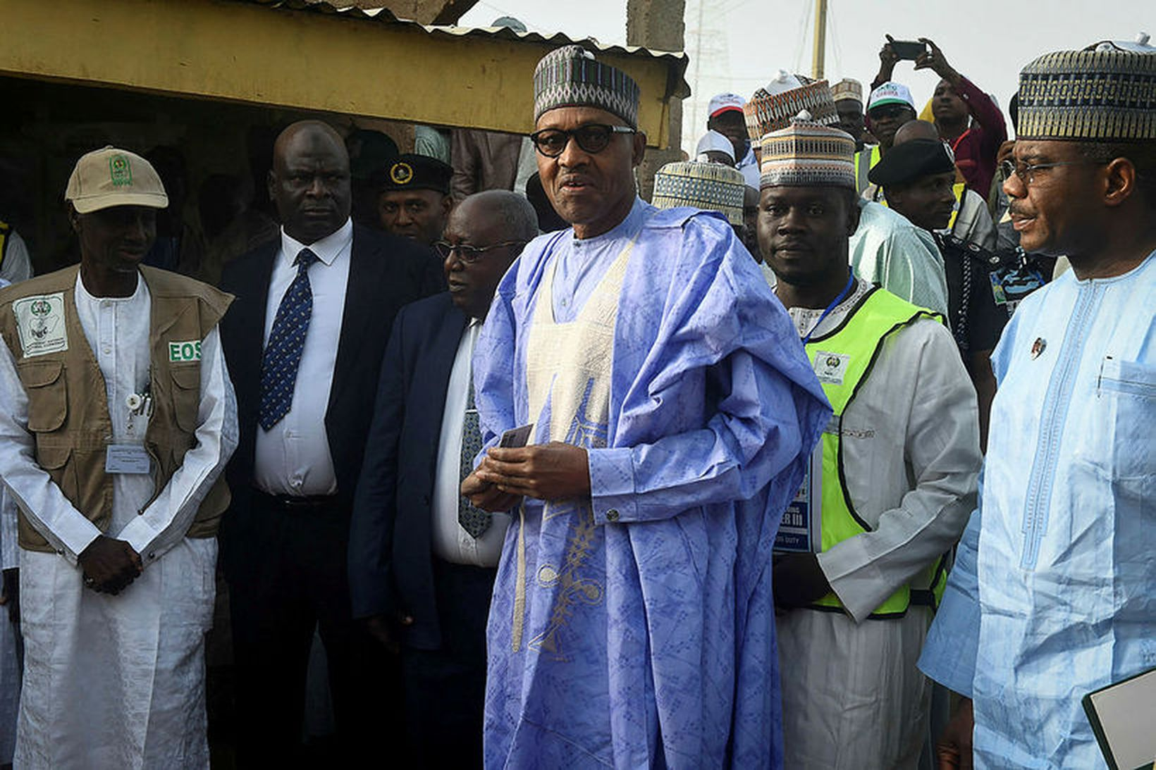 Muhammadu Buhari hefur verið endurkjörinn í embætti forseta Nígeríu.