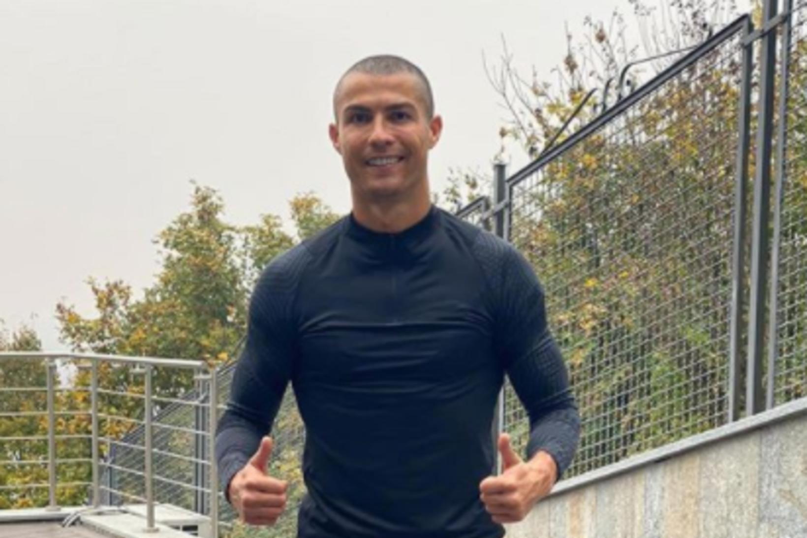 Ronaldo frumsýndi kollinn í dag.