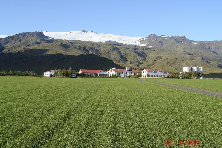 Eyjafjallajökull í lok ágúst 2009.