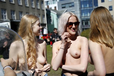 Young women's frustration with the patriarchy broke out with the #freethenipple movement in 2015. Women flocked to the streets and even to work with bare chests or no bras.