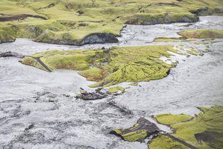 Í Skaftárhlaupi margfaldaðist vatnsmagn fljótanna, svo Eldvatnið var mjög tilkomumikið að sjá.