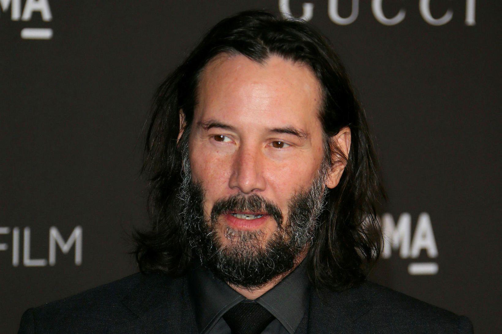 Kanadíski leikarinn Keanu Reeves í nóvember síðastliðnum.