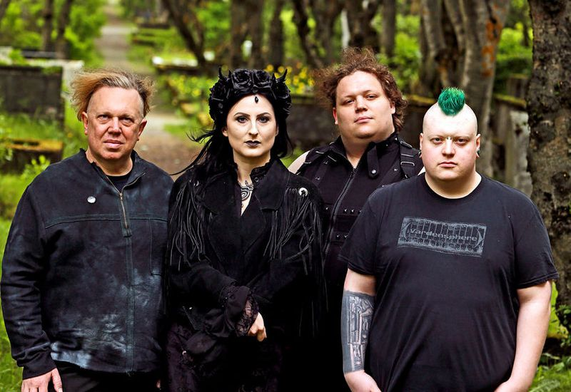 Kenneth Balys, Theódóra Björk Guðjónsdóttir, Bjarki  Þór Guðmundsson organisers of Reykjavik Goth Night.