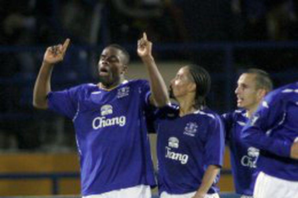 Victor Anichebe var seldur frá Everton til WBA.