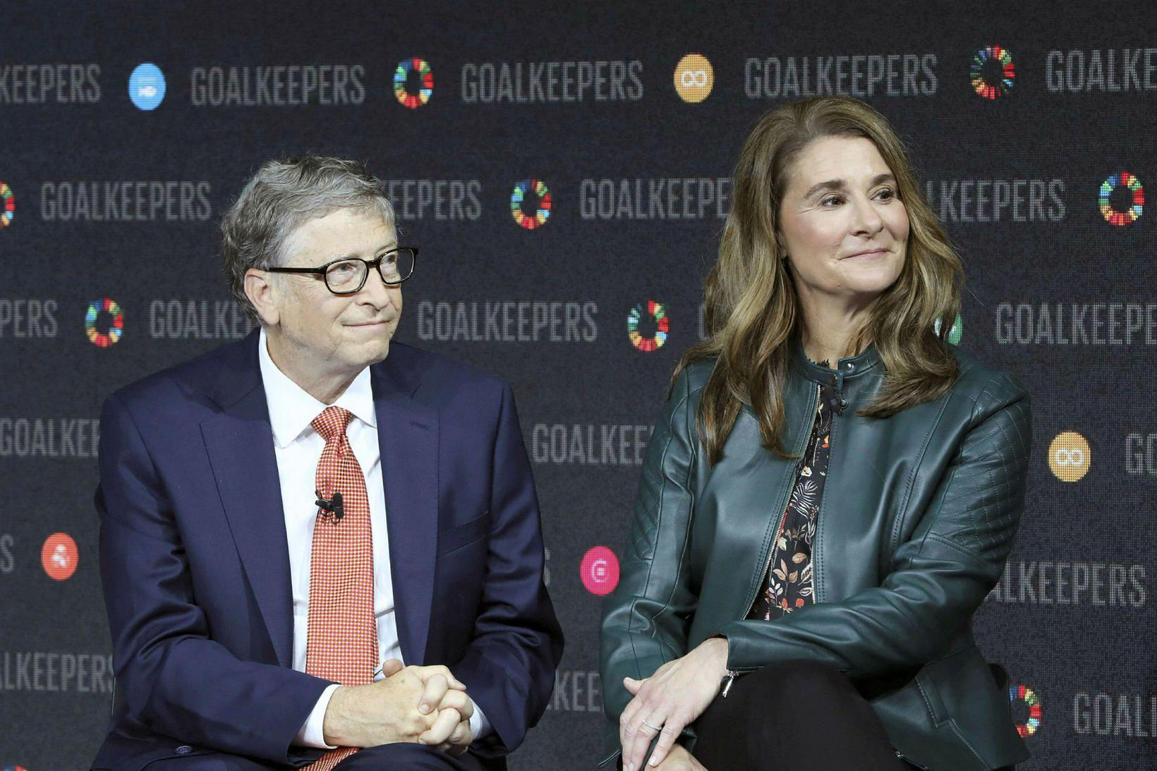 Bill og Melinda Gates árið 2018.