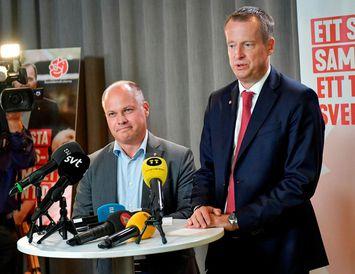 Anders Ygeman, t.h., ásamt Morgan Johansson dómsmálaráðherra.