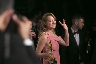 Brie Larson fékk Óskarinn fyrir hlutverk sitt í myndinni Room