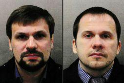 Leyniþjónustumennirnir Anatoliy Vladimirovich Chepiga og Alexander Mishkin fóru með taugaeitrið til Bretlands.