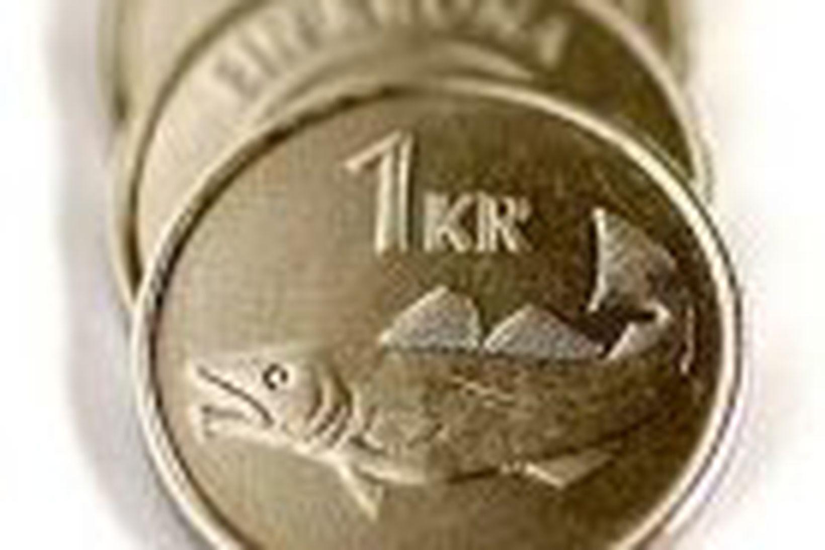 Skammtímaeignir erlendra krónueigenda hafa minnkað úr 330 milljörðum króna í …