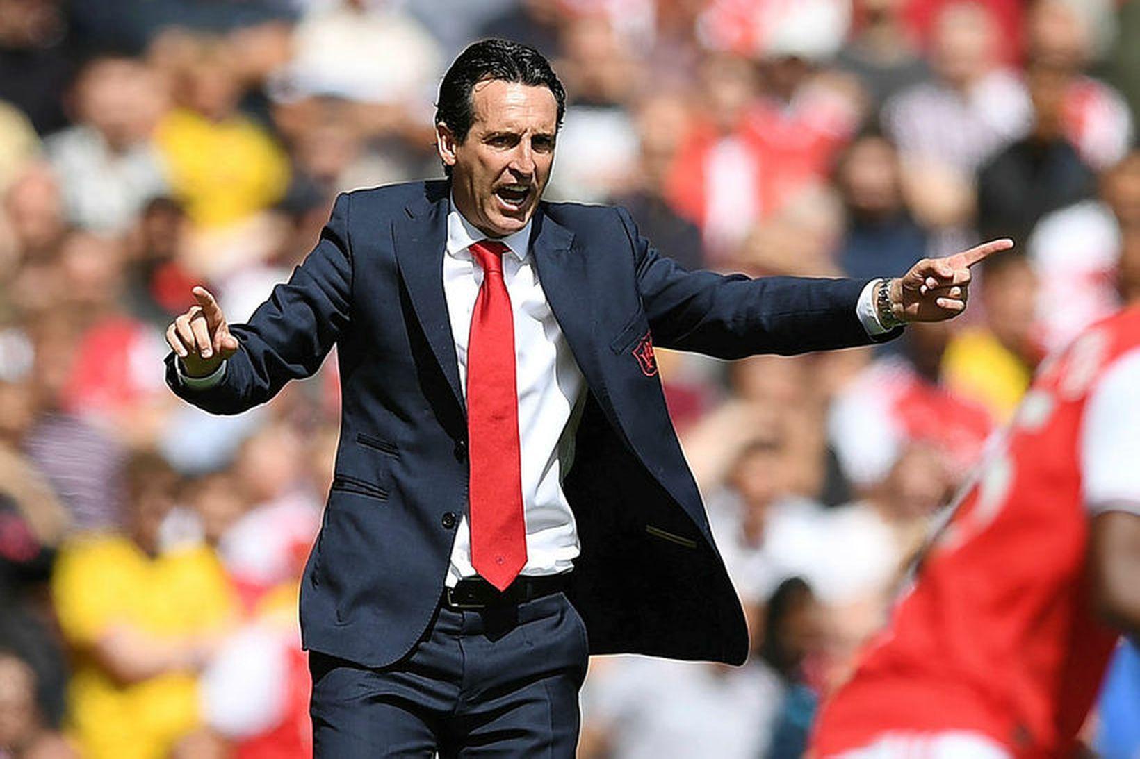 Unai Emery, knattspyrnustjóri Arsenal er ekkert sérstaklega spenntur fyrir því …