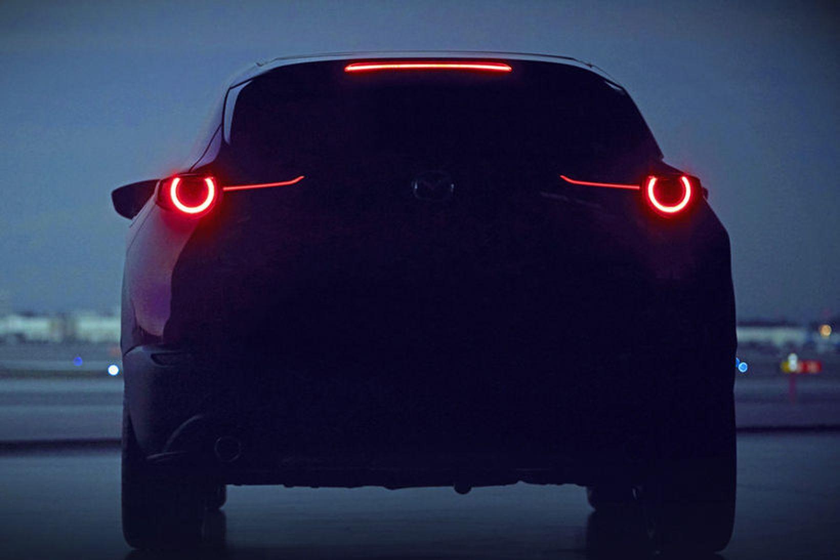 Eina myndin sem Mazda hefur sent frá sér af nýja …