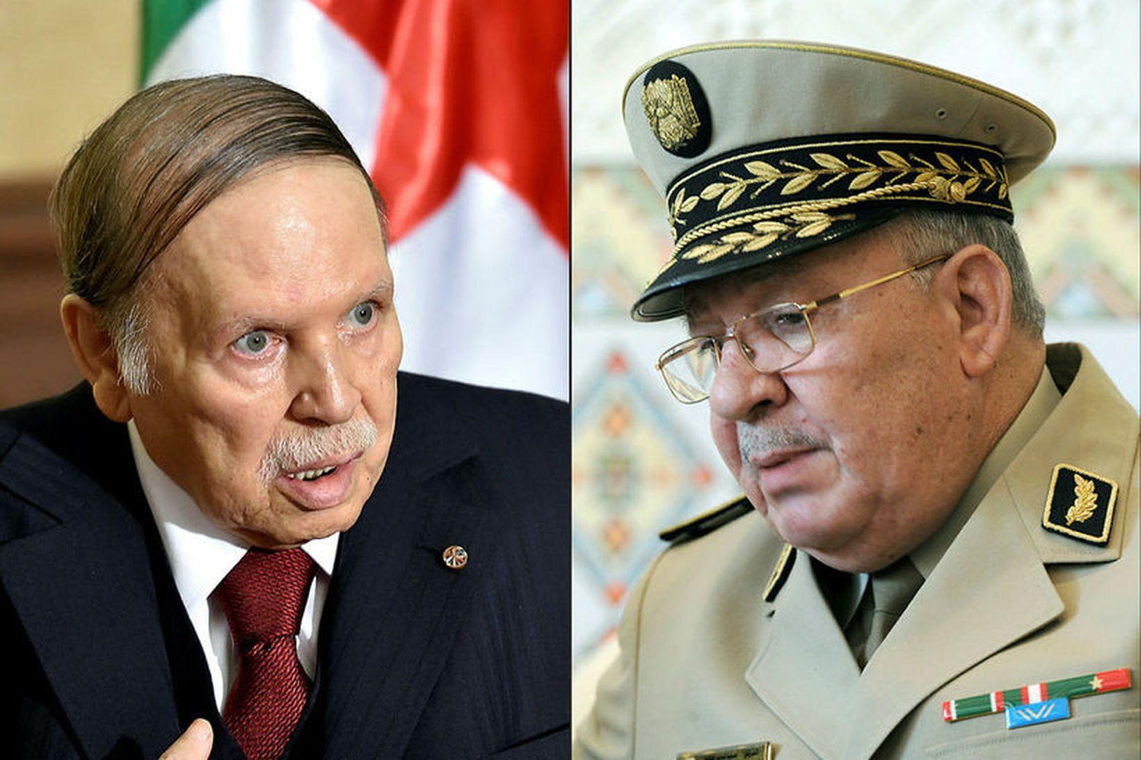 Abdelaziz Bouteflika, forseti Alsír, sækist eftir fimmta kjörtímabilinu í forsetakosningum …