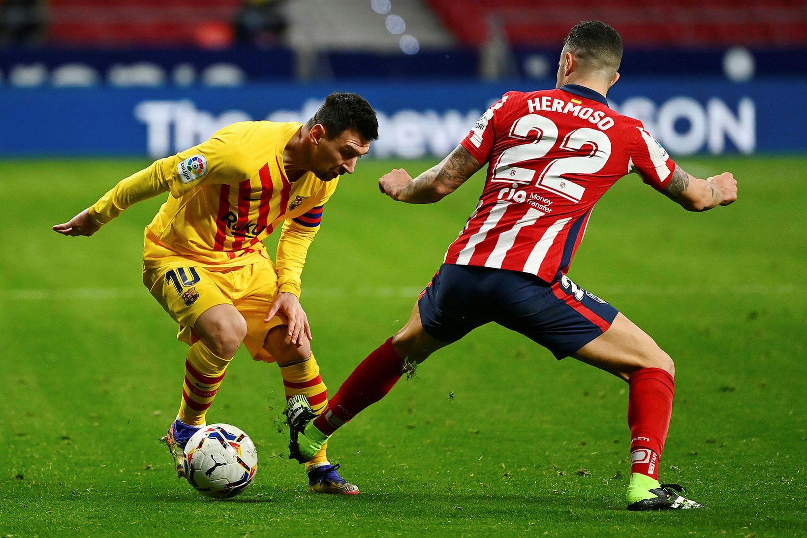 Lionel Messi leikur ekki með Barcelona annað kvöld.
