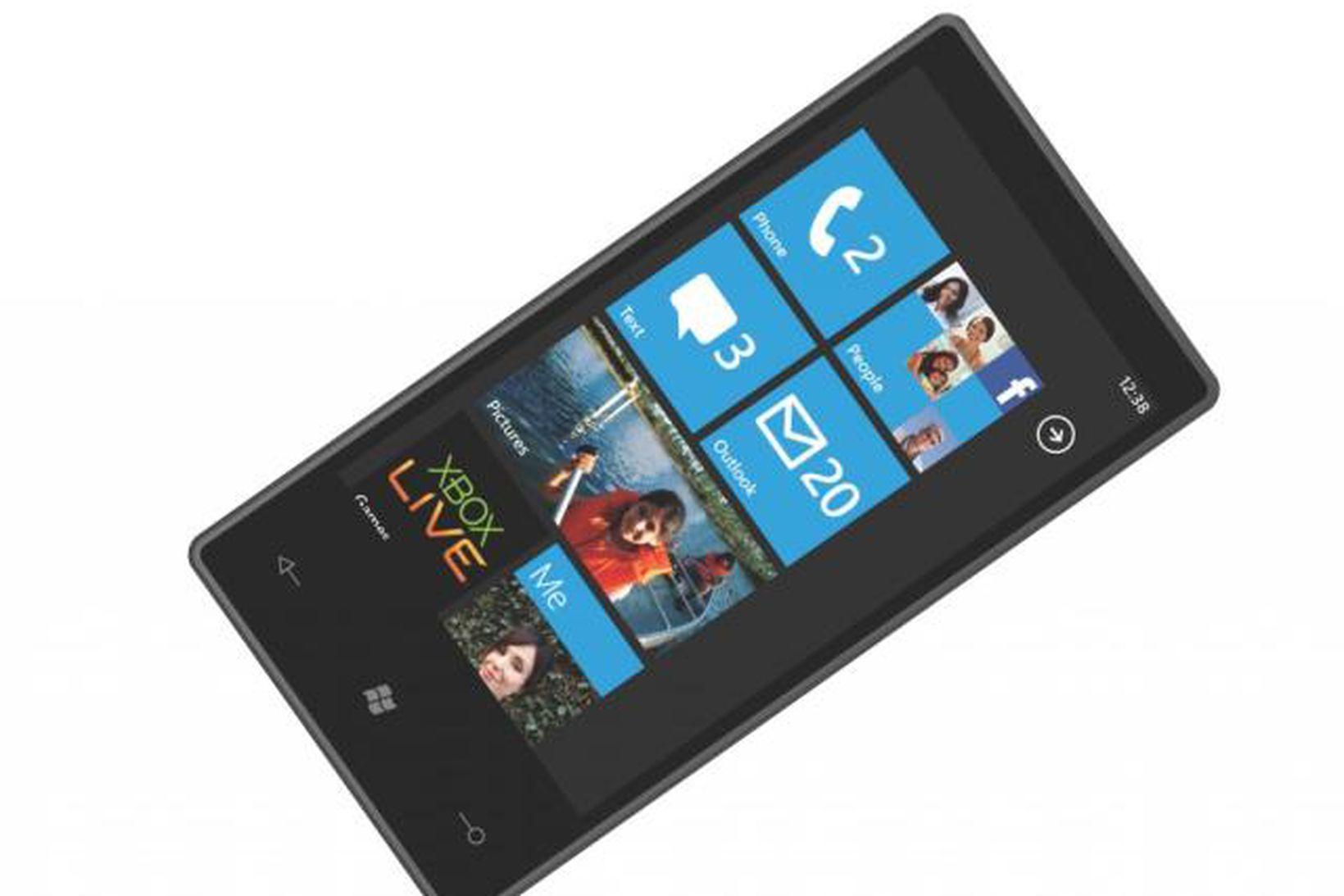Windows Phone 7 snjallsími.