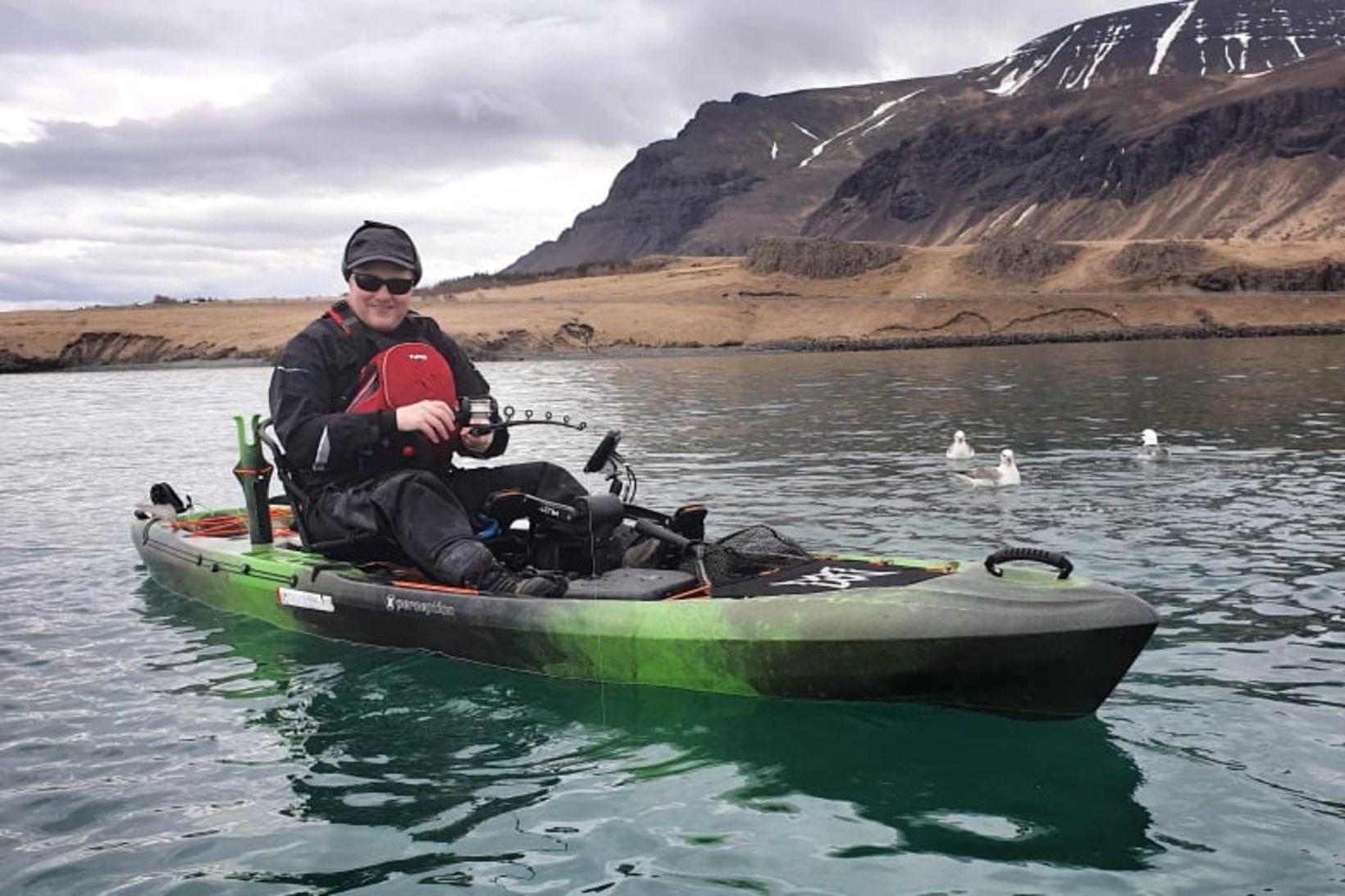 Baldur Guðmundsson segir kajakinn gefa sér mikla möguleika, bæði á …