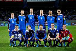 The Icelandic men's national soccer team.