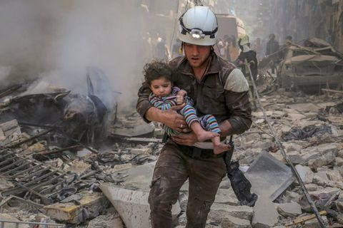 White Helmets are volunteers in Syria