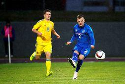 Adam Örn Arnarson í leik með 21-árs landsliðinu.