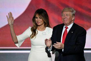 Vefslóð Melaniu Trump vísar nú á síðu Donald Trump.