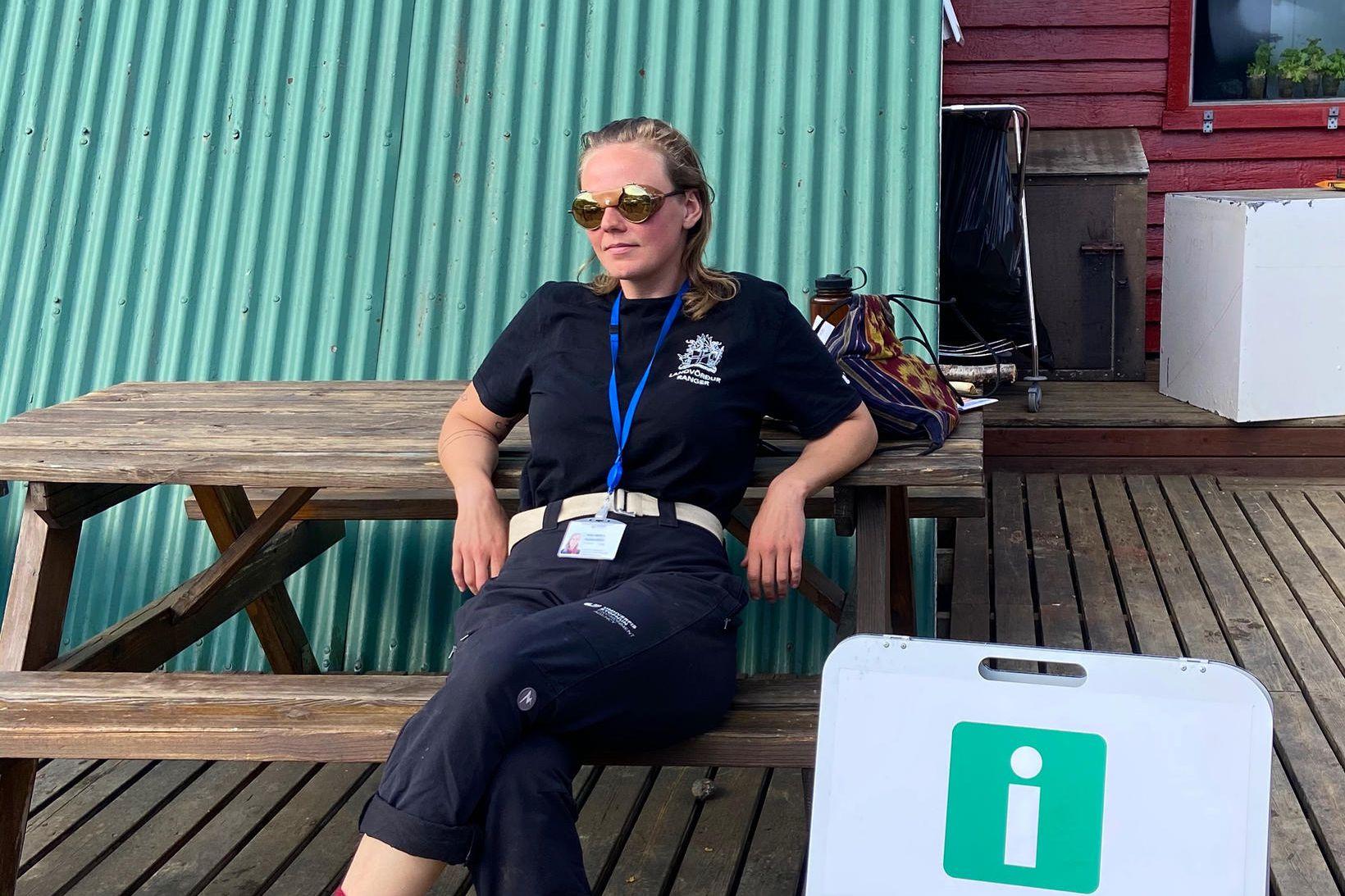 Aníta Björk er landvörður í Kerlingarfjöllum og Hveravöllum í sumar.