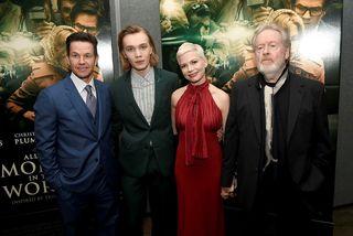 Mark Wahlberg, Charlie Plummer, Michelle Williams og Ridley Scott á frumsýningu All The Money In ...