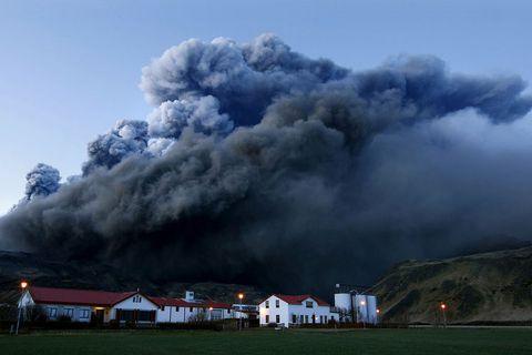 Eyjafjallajökull gaus árið 2010 og raskaði flugi í langan tíma.