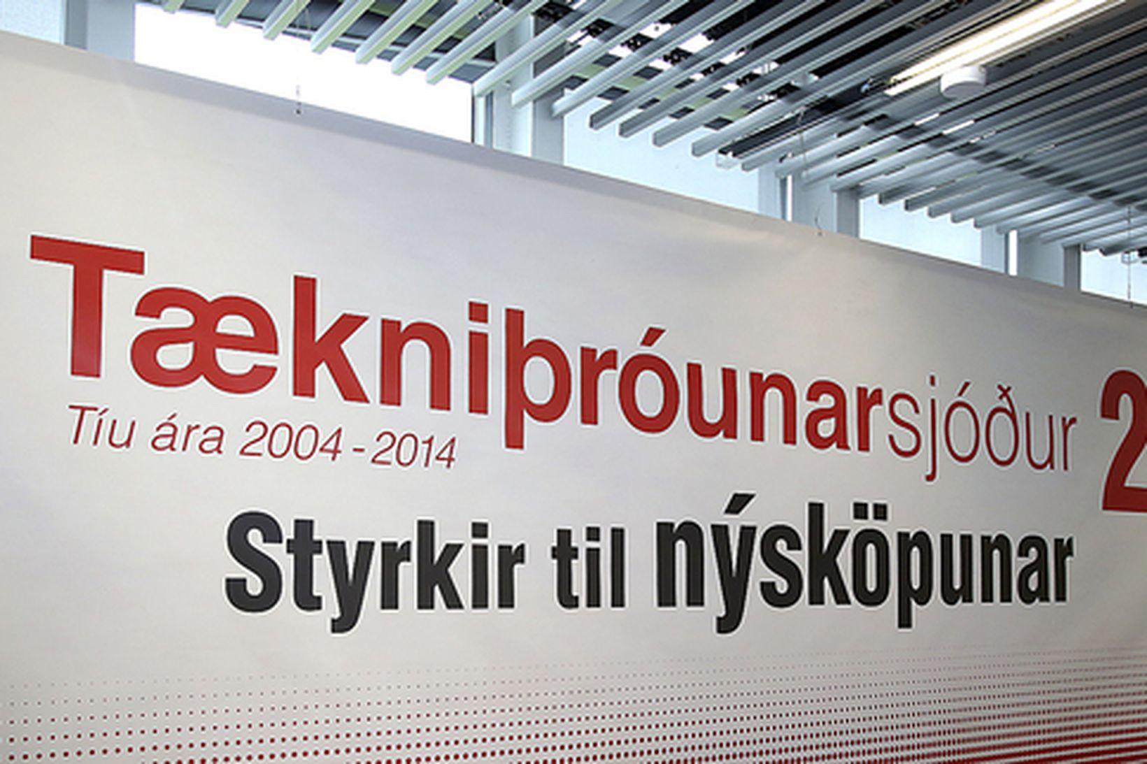 Tækniþróunarsjóður er meðal þeirra samkeppnissjóða sem ríkið leggur til fjármuni …