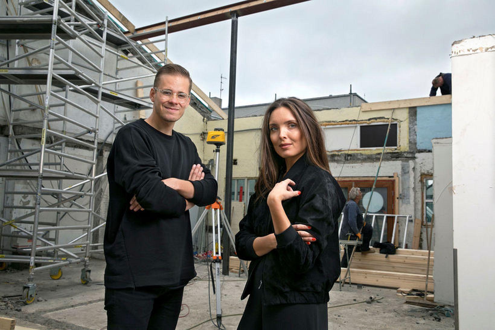 Hafsteinn Júlíusson og Karítas Sveinsdóttir reka HAF Studio.