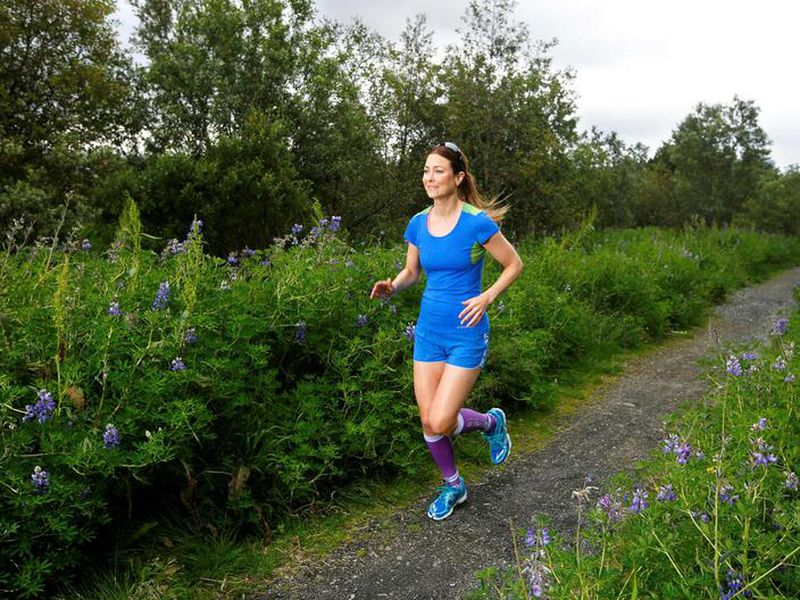 """A runner in similar circumstances as the runners of the """"10"""" km run."""