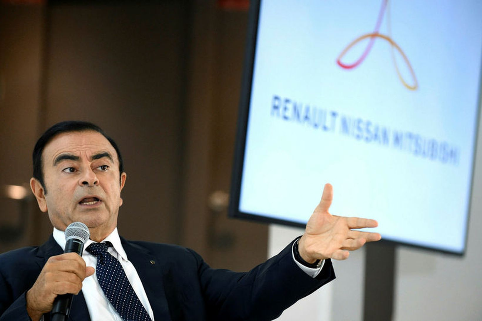 Stjórnarformaður Renault-Nissan-Mitsubishi, Carlos Ghosn.