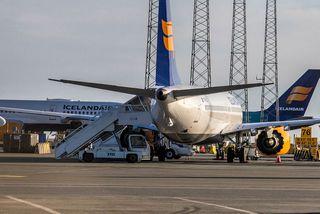 Boeing 737-MAX þotur Icelandair á Keflavíkurflugvelli.