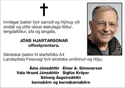 Jóns Hjartarsonar