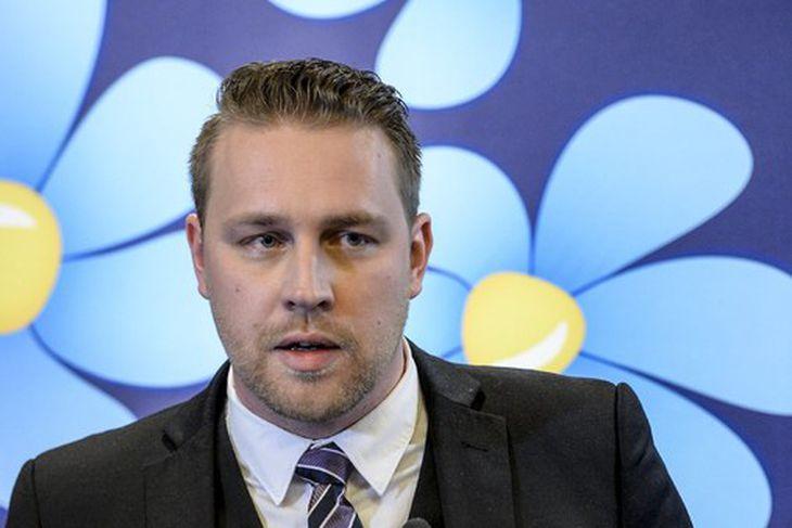 Mattias Karlsson, núverandi leiðtogi Svíþjóðardemókratanna.