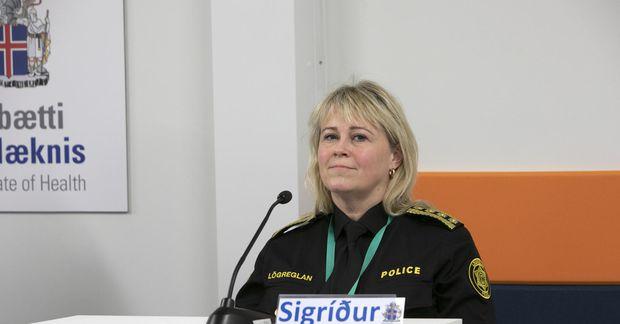 Sigríður Björk Guðjónsdóttir ríkislögreglustjóri ræddi meðal annars viðmiðunarfjárhæðir sekta fyrir brot á sóttvarnalögum og samkomubanni …
