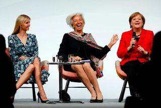 Ivanka Trump, Christine Lagarde og Angela Merkel.
